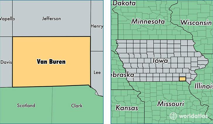 Cantril Iowa Map.Van Buren County Iowa Map Of Van Buren County Ia Where Is Van