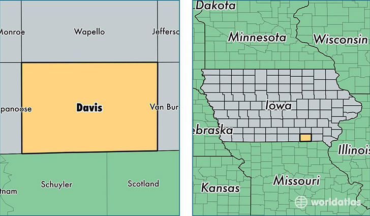 Davis County, Iowa / Map of Davis County, IA / Where is Davis County?