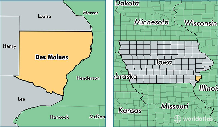 Des Moines Iowa Map Des Moines County, Iowa / Map of Des Moines County, IA / Where is