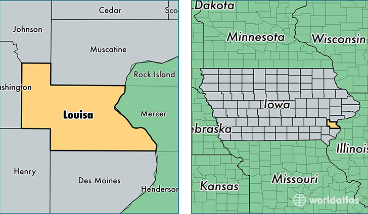 Louisa County Iowa Map Of Louisa County Ia Where Is Louisa County