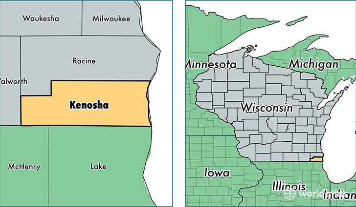 Kenosha County Wisconsin Map Of Kenosha County Wi Where Is