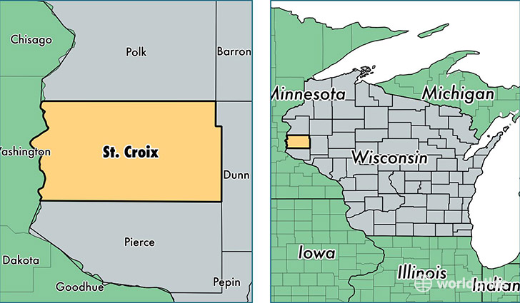 Saint Croix County, Wisconsin / Map of Saint Croix County ...