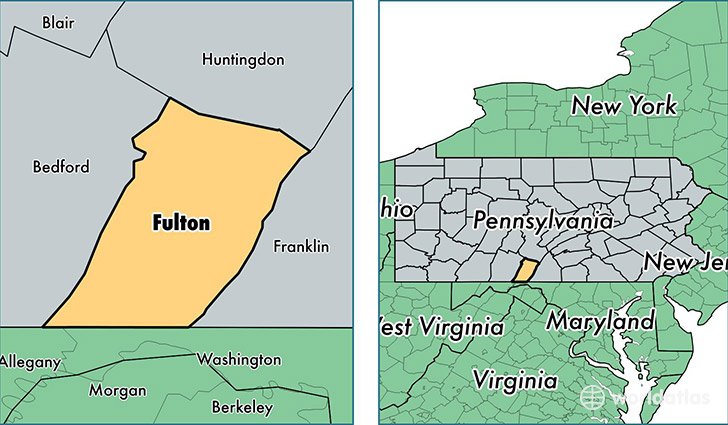 location of Fulton county on a map