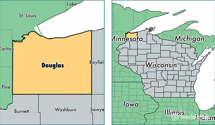 Solon Springs (WI) United States  City new picture : ... , Wisconsin / Map of Douglas County, WI / Where is Douglas County