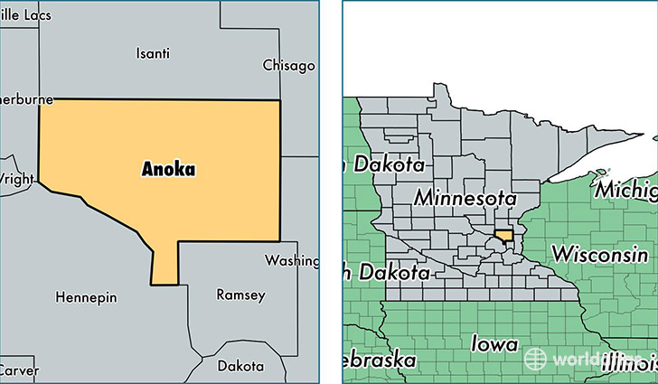 Anoka County Map Anoka County, Minnesota / Map of Anoka County, MN / Where is Anoka