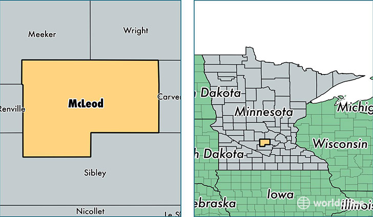 Mcleod County Minnesota Map Of Mcleod County Mn Where Is
