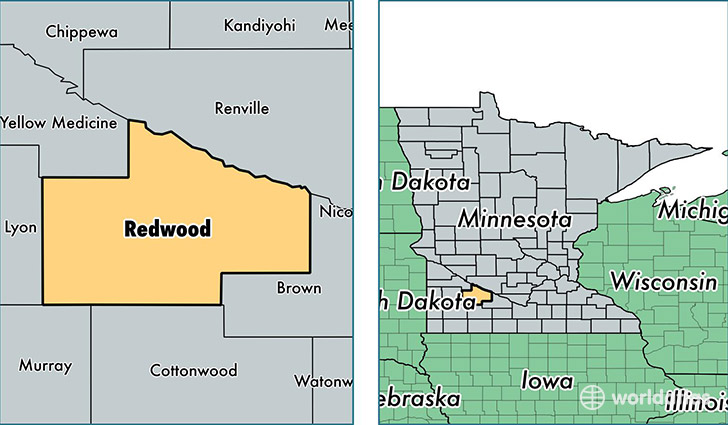 Redwood County Minnesota Map of Redwood County MN Where is