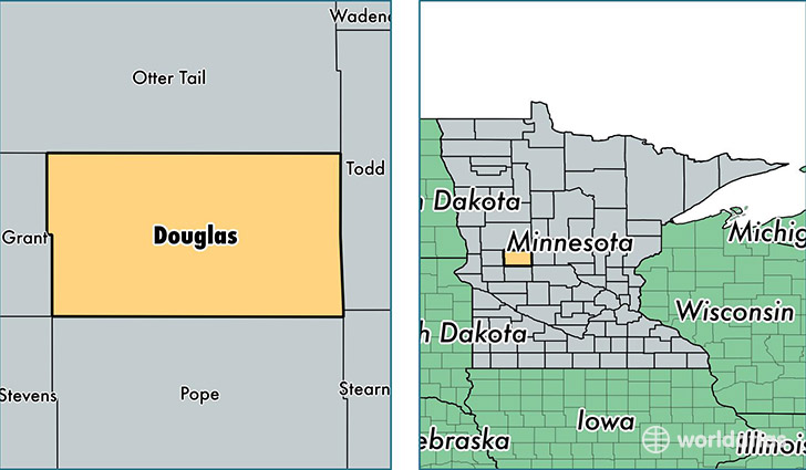 location of Douglas county on a map
