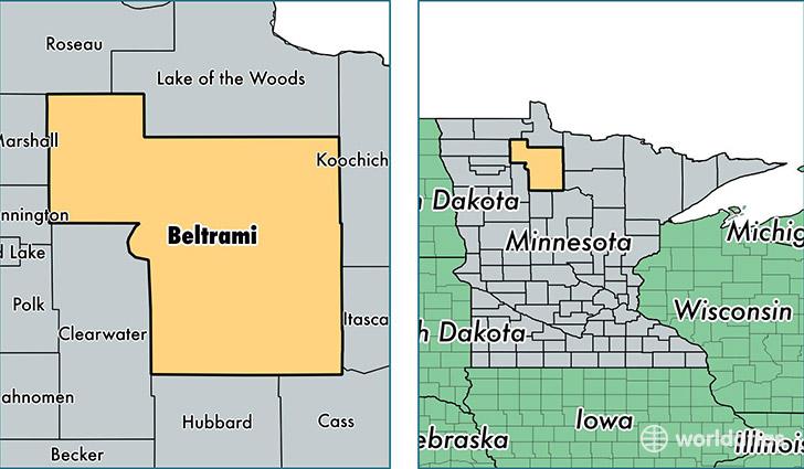 Beltrami County Minnesota Map of Beltrami County MN Where is