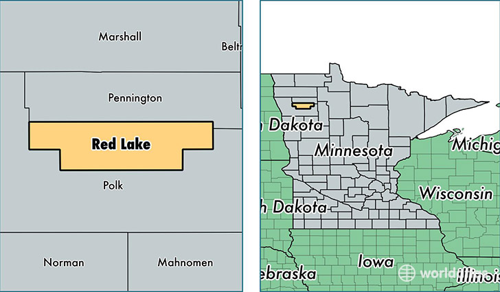 location of Red Lake county on a map