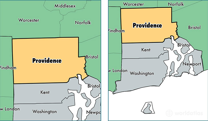 Providence County, Rhode Island / Map of Providence County, RI ...