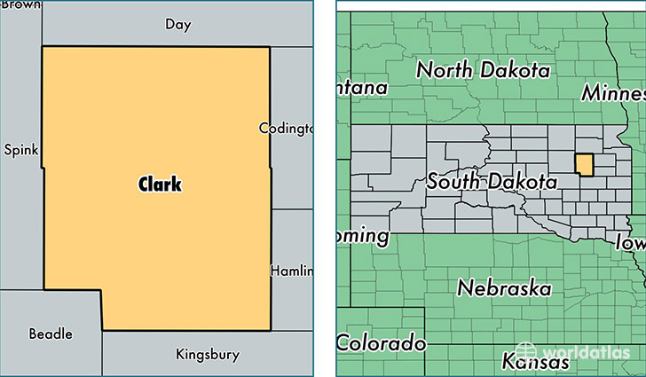 location of Clark county on a map