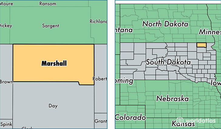 Marshall County South Dakota Map Of Marshall County Sd Where