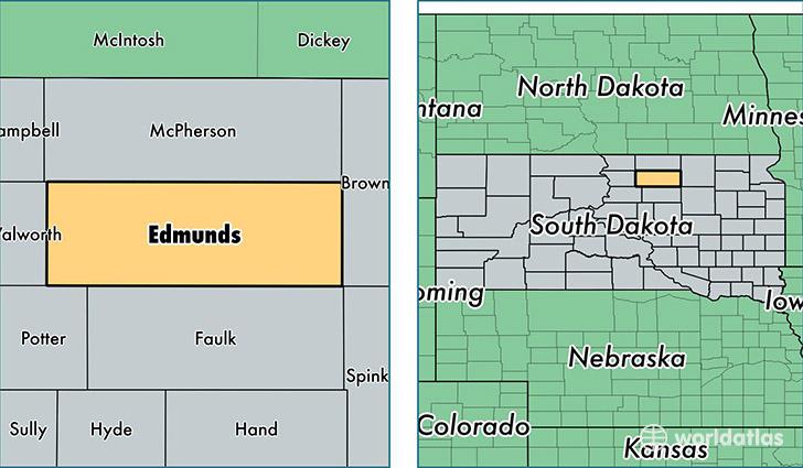 Edmunds County South Dakota Map Of Edmunds County Sd
