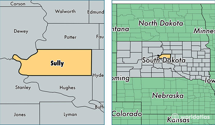 location of Sully county on a map
