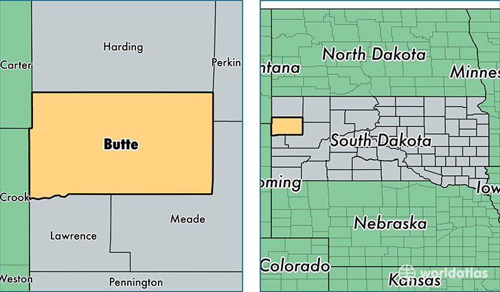 location of Butte county on a map