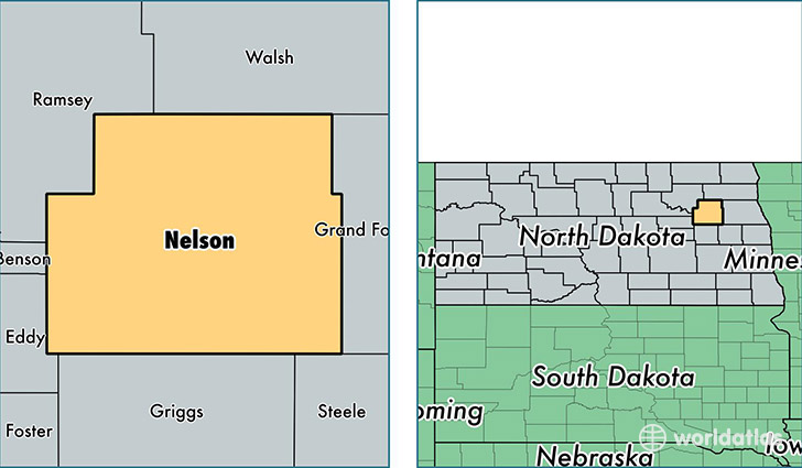 location of Nelson county on a map