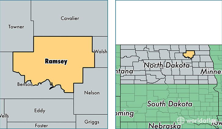 location of Ramsey county on a map