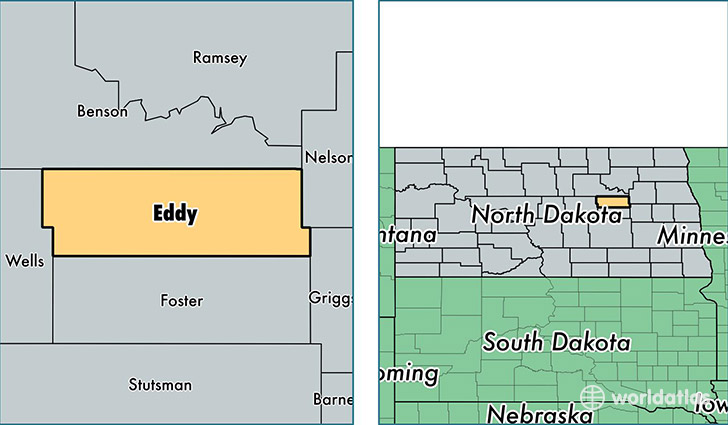 location of Eddy county on a map