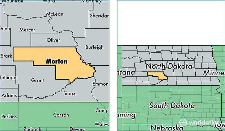 location of Morton county on a map