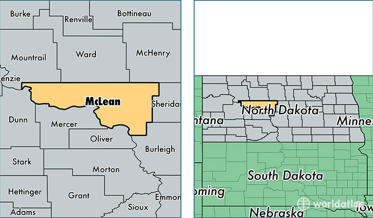 location of McLean county on a map