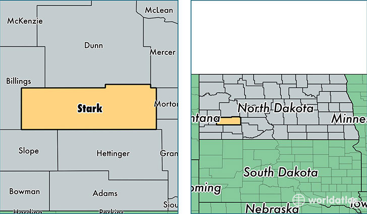 location of Stark county on a map