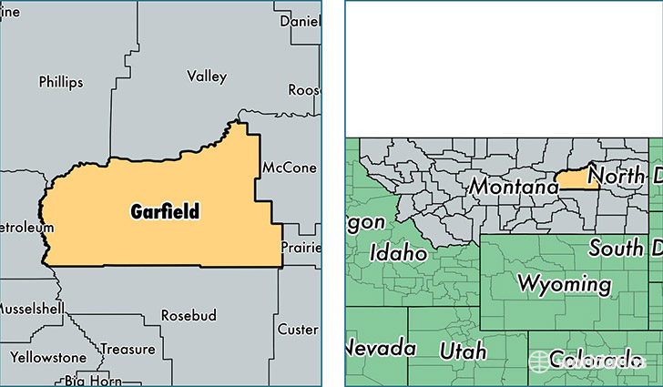 location of Garfield county on a map