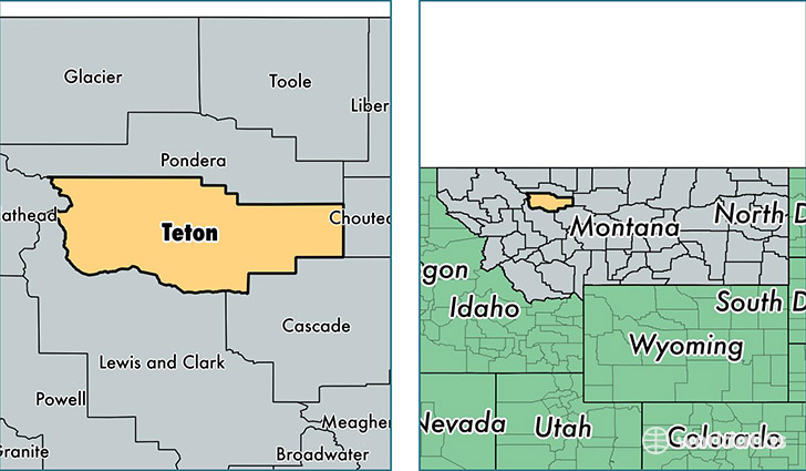 location of Teton county on a map
