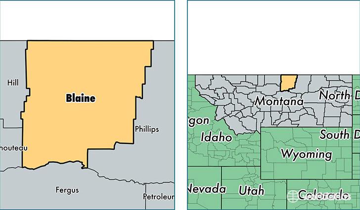 Blaine County Montana Map Of Blaine County MT Where Is - Montana map us