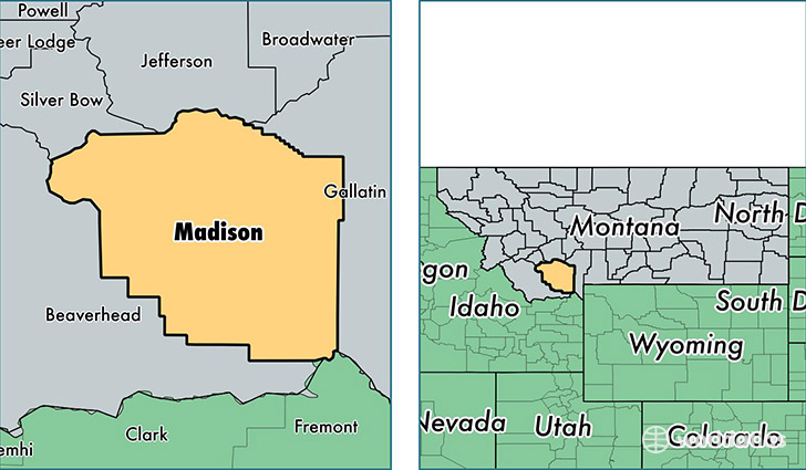 location of Madison county on a map