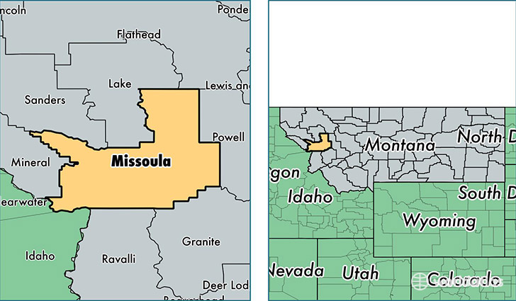 location of Missoula county on a map