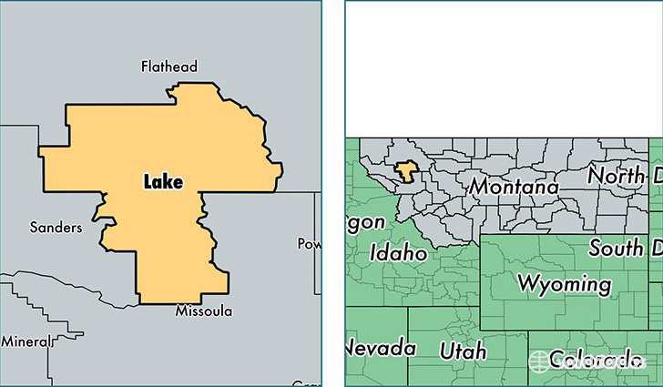 location of Lake county on a map