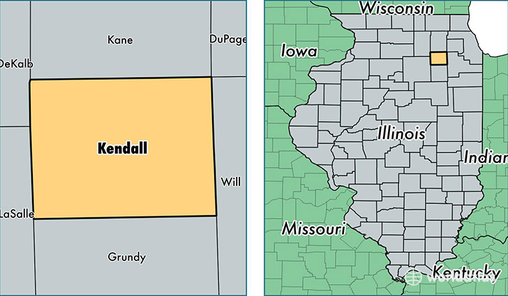 Kendall County Illinois Map Of Kendall County Il Where Is - Il-on-us-map