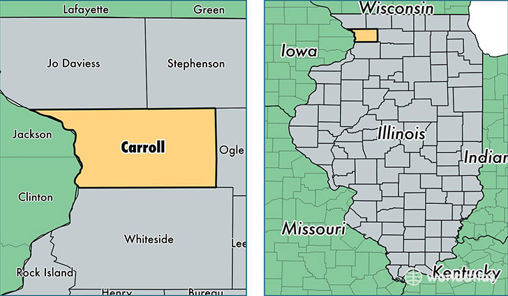 Thomson Illinois Map.Carroll County Illinois Map Of Carroll County Il Where Is