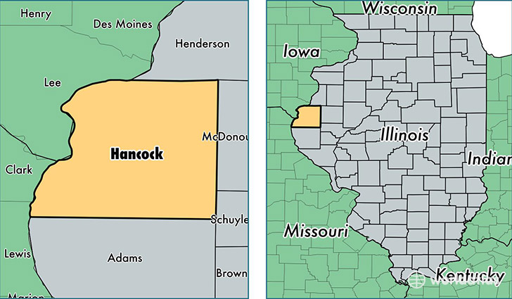Hancock County Illinois Map Of Hancock County Il Where Is