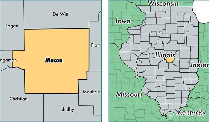 location of Macon county on a map