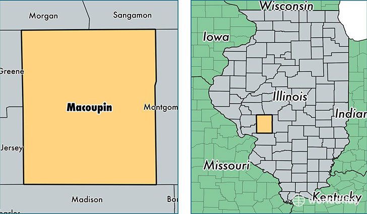 location of Macoupin county on a map