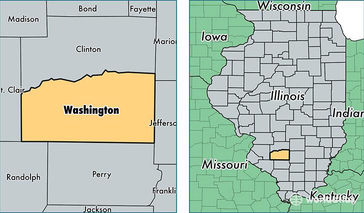 Washington County, Illinois / Map of Washington County, IL / Where