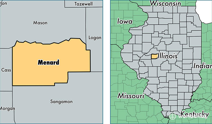 Location Of Menard County On A Map