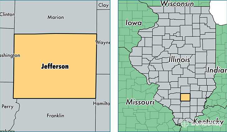 location of Jefferson county on a map