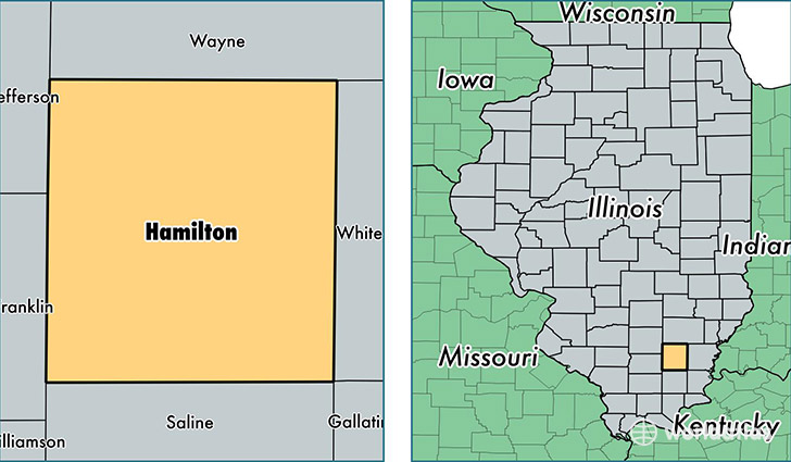 location of Hamilton county on a map