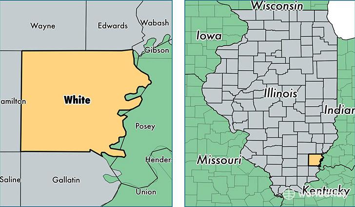White County Illinois Map Of White County Il Where Is White