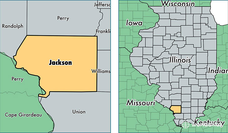 Jackson County Illinois Map of Jackson County IL Where is
