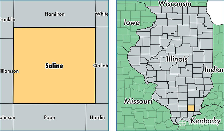 location of Saline county on a map