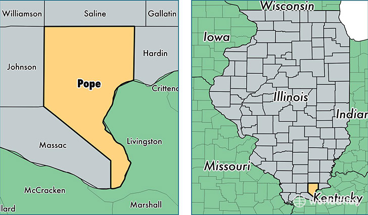 location of Pope county on a map