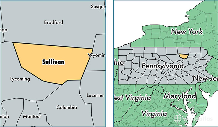 location of Sullivan county on a map