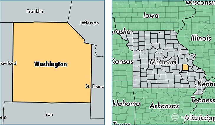location of Washington county on a map