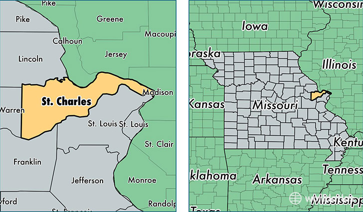 Saint Charles County Missouri Map of Saint Charles County MO