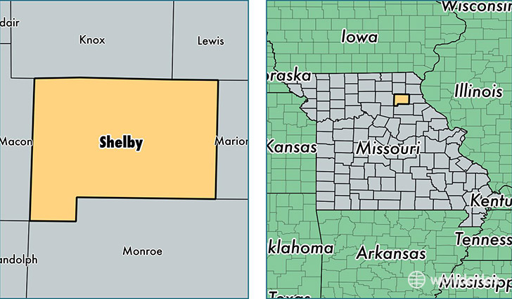 location of Shelby county on a map