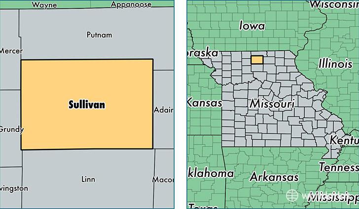 Sullivan (MO) United States  city photo : Sullivan County, Missouri / Map of Sullivan County, MO / Where is ...